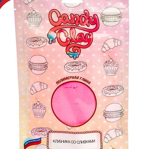Масса для лепки Candy Clay. Полимерная кондитерская глина, клубника со сливками, 100гр 01-0203