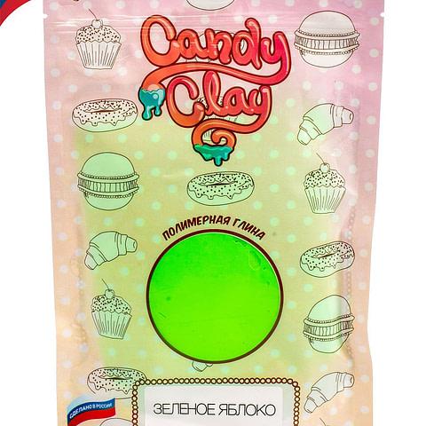 Масса для лепки Candy Clay. Полимерная кондитерская глина , зеленое яблоко, 100гр 01-0204