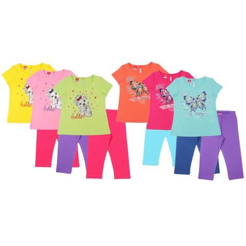 Комплект для девочки (футболка, бриджи) CAK 9746
