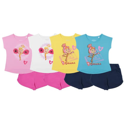 Комплект для девочки (футболка, шорты) CAK 9798
