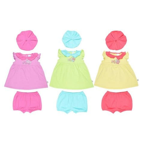 Комплект для девочки (туника, шорты, шапочка) CSB 9229