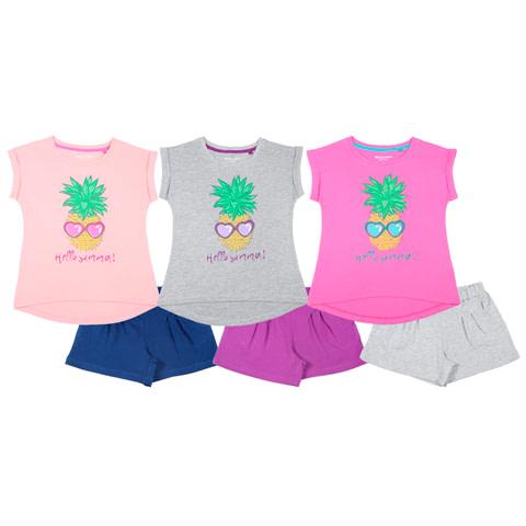 Комплект для девочки (футболка, шорты) CSJ 9737