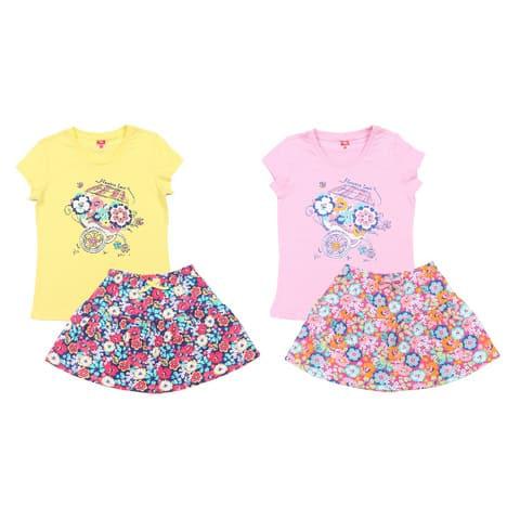 Комплект для девочки (футболка, юбка) CSK 9482
