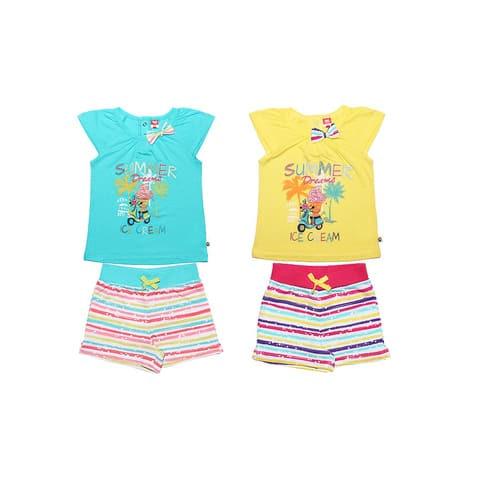 Комплект для девочки (футболка, шорты) CSK 9569