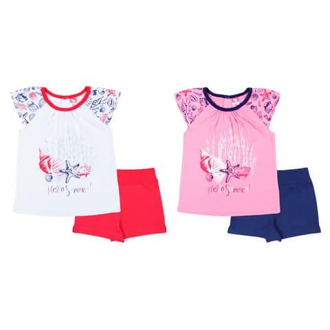 Комплект для девочки (футболка, шорты) CSK 9787