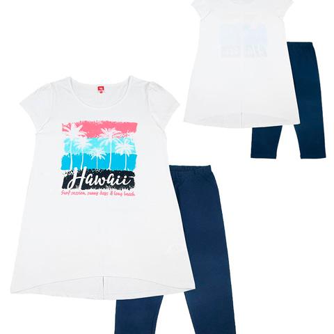 """Комплект для девочки (платье типа """"туника"""", бриджи) CST 9742"""