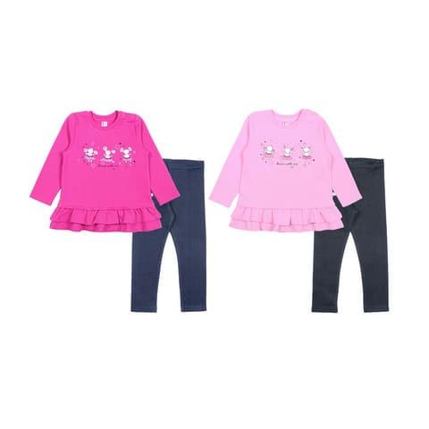 """Комплект для девочки (платье типа """"туника"""", брюки типа """"лосины"""") CWB 9688"""