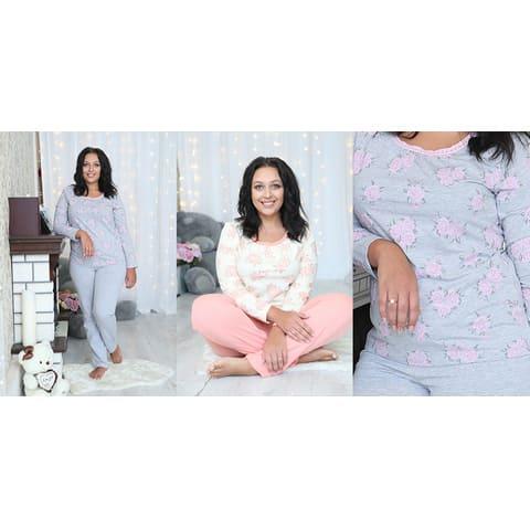 Пижама женская (футболка с дл.рукавом, брюки)