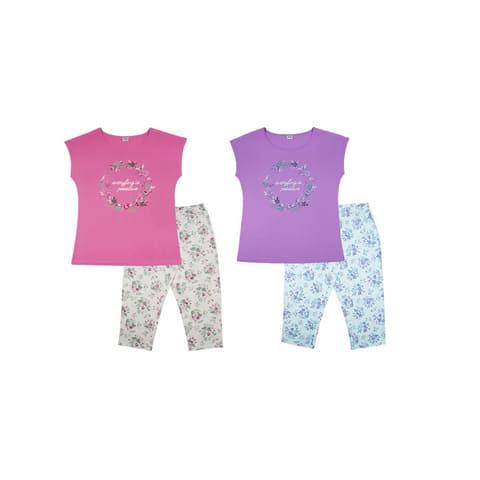 Пижама женская (футболка, бриджи)