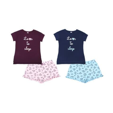 Пижама женская (футболка, шорты) FS 5080