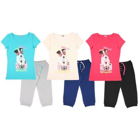Комплект женский (футболка, бриджи) FS 9096