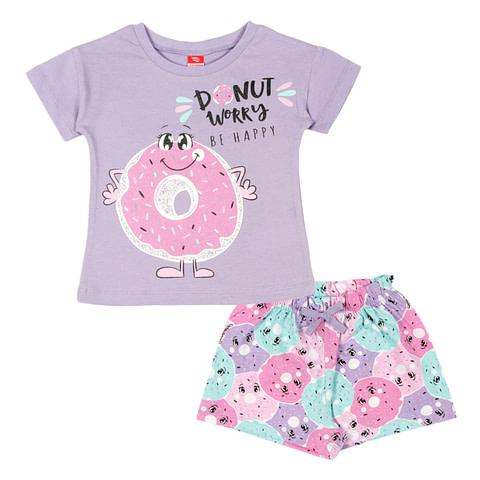 Комплект для девочки (футболка, шорты)