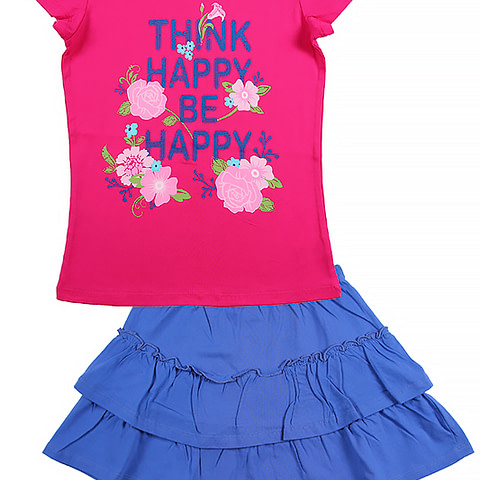 Комплект для девочки (футболка, юбка) CAK 9589