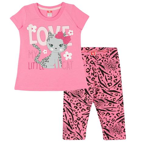 Комплект для девочки (футболка, бриджи) CAK 9877