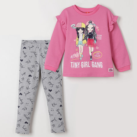 """Комплект для девочки (джемпер, брюки модель """"лосины"""") CSKG 90001"""