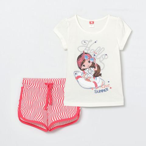 Комплект для девочки (футболка, шорты) CSKG 90018