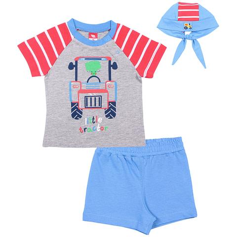 Комплект для мальчика (футболка, шорты, шапочка) CSN 9702