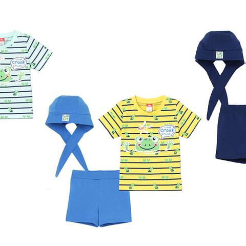 Комплект ясельный (футболка, шорты, шапочка) CSNB 90027