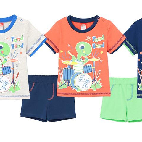 Комплект ясельный (футболка, шорты) CSNB 90028