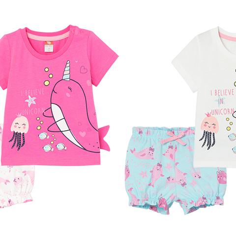 Комплект для девочки (футболка, шорты) CSNG 90029