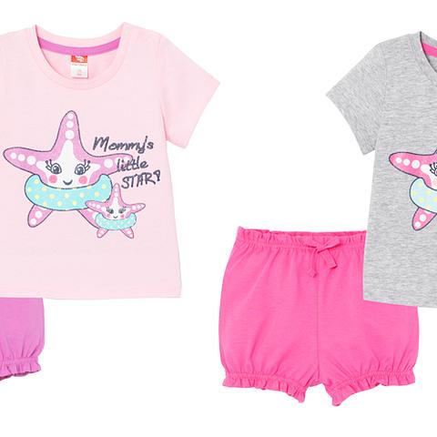 Комплект для девочки (футболка, шорты) CSNG 90039