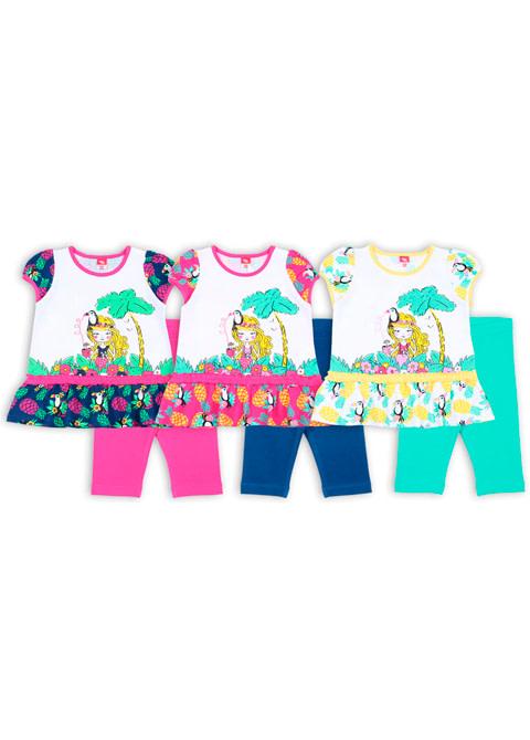 "Комплект для девочки (платье типа ""туника"", бриджи) CSB 9705"
