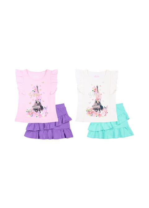 Комплект для девочки (футболка, юбка) CSK 9719