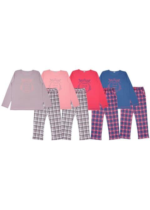Комплект женский (футболка с дл.рукавом, брюки)