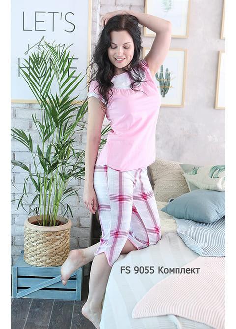 Комплект женский (футболка, бриджи) FS 9055