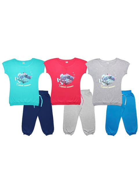 Комплект женский (футболка, бриджи) FS 9100