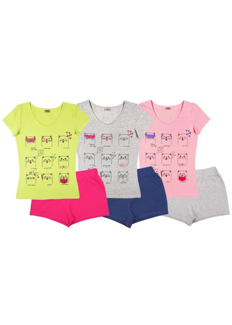 Комплект женский (футболка, шорты) FS 9115