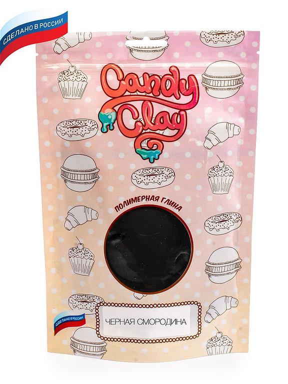 Масса для лепки Candy Clay. Полимерная кондитерская глина, черная смородина, 100гр 01-0214