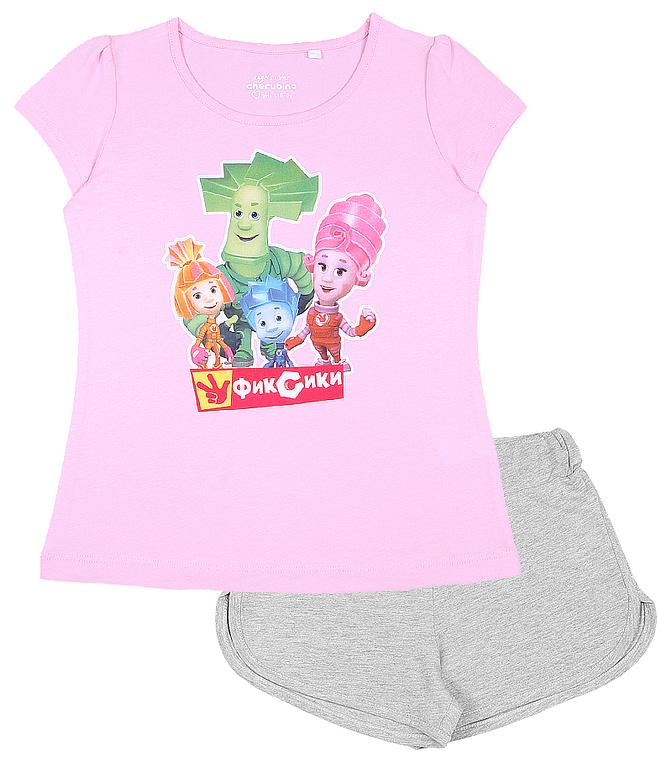 Комплект для девочки (футболка, шорты) CAK 9754