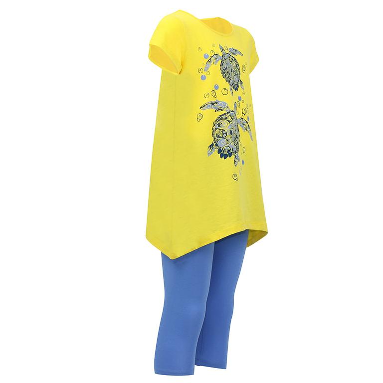 "Комплект для девочки (платье типа ""туника"", бриджи) CSJ 9843"