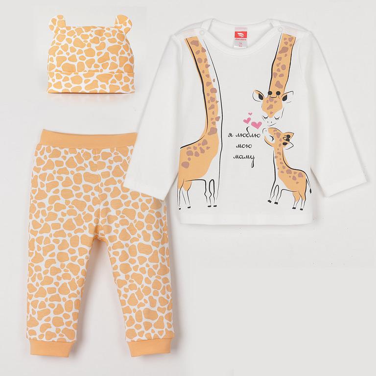 Комплект для девочки (джемпер, брюки, шапочка) CSNG 90009
